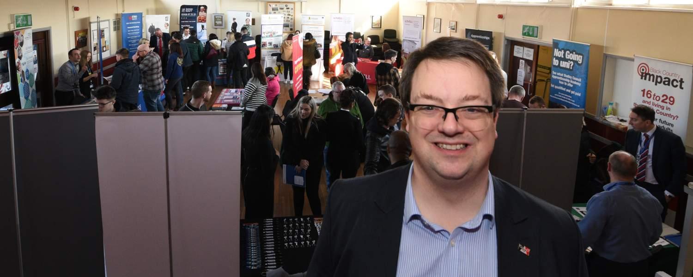 Mike Wood MP at his fifth annual Apprenticeship Fair